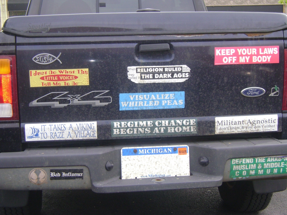 Bumper sticker commentary